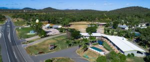 over seeing the big mango and Bowen motel