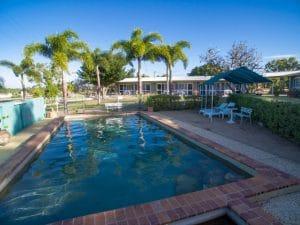 Swimming pool at Ocean View Motel in Bowen