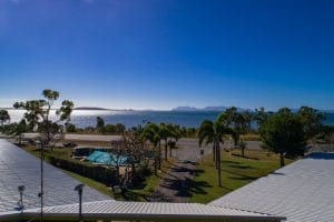 Aerial Views of the Bowen Accommodation Motel Ocean View